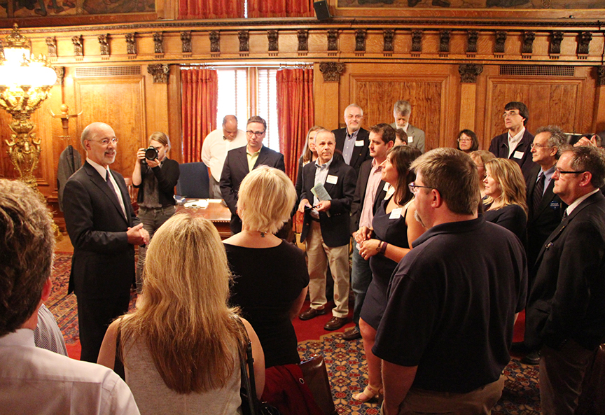 Visiting with Gov. Tom Wolf